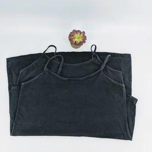 Torrid black Cami tops x2